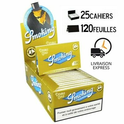 Lot 25 Carnets Feuille à rouler SMOKING Carnet de 120 Feuilles 100% NATUREL
