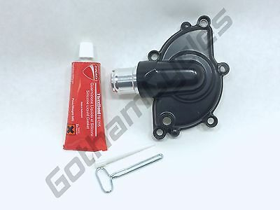 New Ducati BLACK 5 Bolt Water Pump Cover Impeller Housing Silicone Liquid Gasket