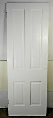 "Antique Vintage 4 Panel Interior Door 78-1/2"" X 27-7/8"" X 1-1/8"" Thick 1890's D4"