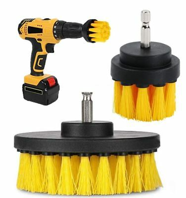 2pc Drill Cleaning Brush Power Drill Attachment Grout Tile Cleaner Scrub Tool