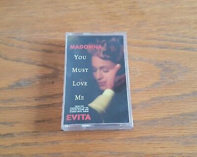 MADONNA - YOU MUST LOVE ME cassette tape single 1996