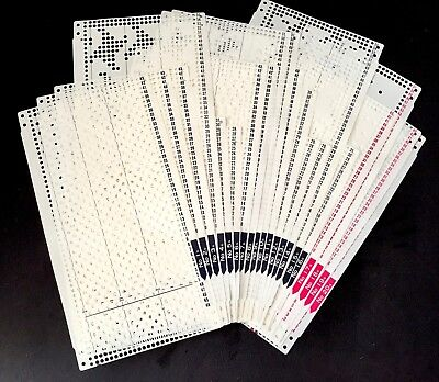 Brother ORIGINAL KH864/868, KK98 PUNCHCARD SET 'S' *NEW* 20 Cards, incl. 4 lace
