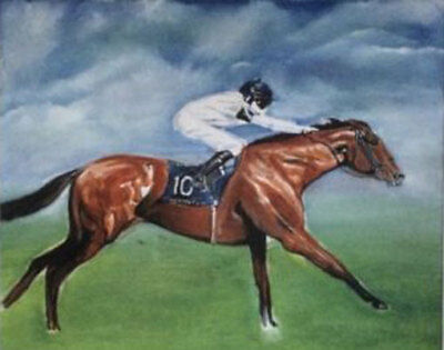 ZOPT764 10 race horse 100% hand painted wall art OIL PAINTING on CANVAS