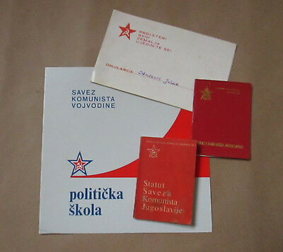 Lot of 4 Socialist,Comunist Documents-Invitation,two Booklets,Diploma Yugoslavia