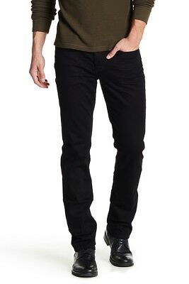 02daab1ef4 NWT PERRY ELLIS 32 x 30 Premium 4RS Slim Low Straight 497 Black Indigo Jeans