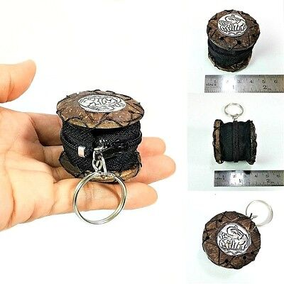 Mini Coin Purse Pouch Case Holder Zip Key Ring Trinkets Coconut Shell Eco Gift