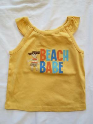 NWT Gymboree 2T Tropical Bloom Beach Babe Hula Girl Yellow Tank Top Tee