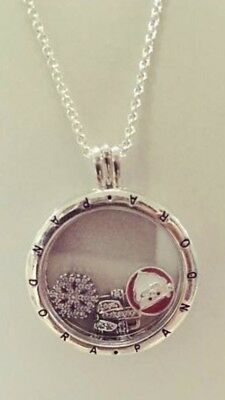 02fd5c2d9 Pandora Large Floating Locket Necklace With Xmas Petites *Delivered Before  Xmas