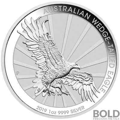 2019 Silver 1 oz Australia Perth Wedge-Tailed Eagle BU