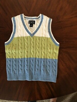 THE CHILDREN'S PLACE Adorable Striped Little Boys Toddler 4T Sweater Vest NWT
