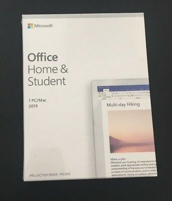 Microsoft Office Home and Student 2019 | 1 device, Windows 10 PC/Mac