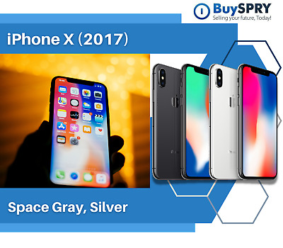 Apple iPhone X - 64GB 256GB - (Factory GSM Unlocked; AT&T / T-Mobile) Smartphone