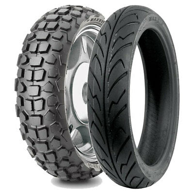 Tyre Pair Maxxis 120/70-12 51J M6024 Cross + 140/70-14 68P M6135
