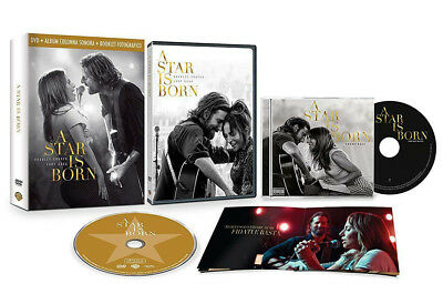 A STAR IS BORN (DVD + CD + Booklet Fotografico) Bradley Cooper e Lady Gaga