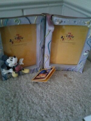 """Disney PICTURE PHOTO FRAME 75 Years of Love & Laughter Holds 2-3.5"""" x 5"""" photos"""