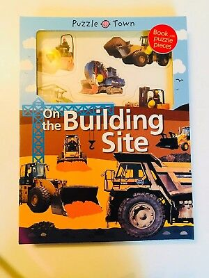 Puzzel Town On The Building Site Book And Interactive Jigsaw Diggers New