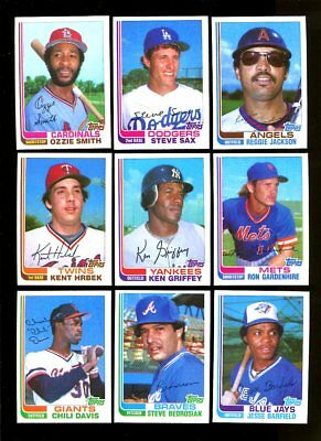 1982 Topps Traded Baseball Near Complete Set 129/132 Mint *68407