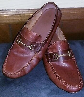 c37df3cc608 Cole Haan C25979 Mens Somerset Link Bit Woodbury   Brown Leather Loafers 13  M