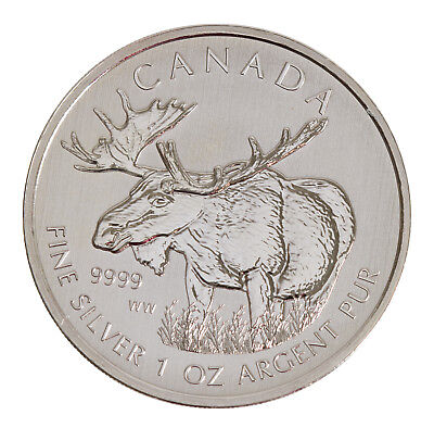 2012 $5 1oz Silver Canadian Moose .9999 BU