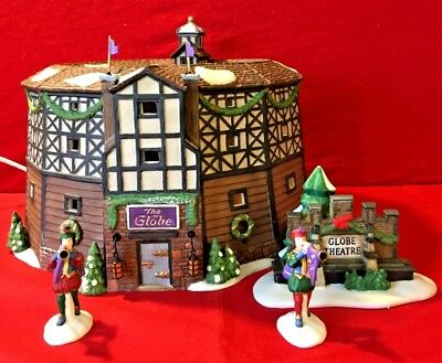 The Old Globe Theatre Dept 56 Dickens Village 58501 Christmas heritage set A