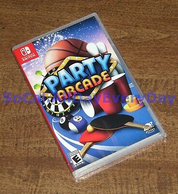 Party Arcade (Nintendo Switch) BRAND NEW SEALED! hoops darts corn hole ping pong