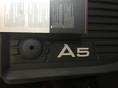 AUDI A5 RUBBER ALL WEATHER FLOOR MAT FRONT SET 2018-2019 OEM New 8W7061221041