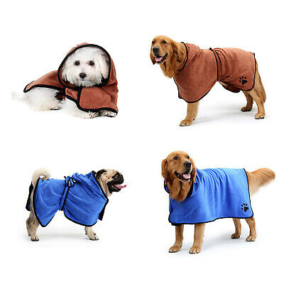 AcornPets 50/60/75cm M/L/XL Large Dog Bathrobe Bath Blanket Dog Pet Drying Towel