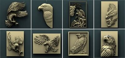 3d STL Model Relief for CNC Router Aspire _ (0115) Eagles