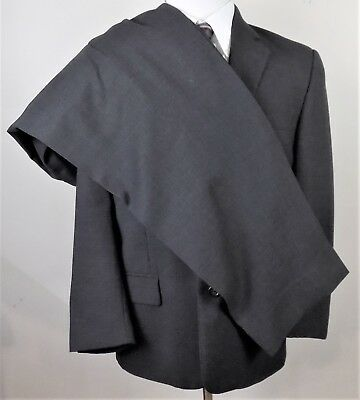 PRONTO UOMO~Super 100's~37S~Dark Gray~2 Button~Pleated Pant~Wool~2 Piece Suit