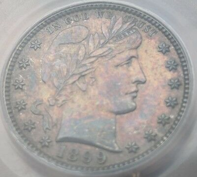 1899 PCGS PR-61 Proof Barber Quarter 25C - Toning! Only 846 minted