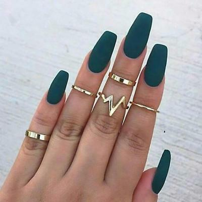 1 Set New Fashion Lightning Waves ring set finger rings For Women Girl Gifts fo