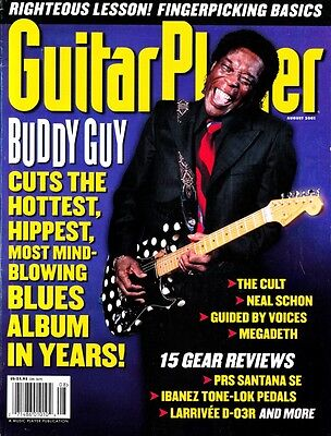 Guitar Player Magazin August 2001 Buddy Guy, Megadeth, Neal Schon, The Cult
