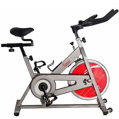 a8c6c52e2a9 Sunny Health and Fitness Chain Drive Indoor Cycling Bike - Silver- (SF -B1001S