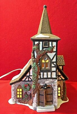 Old Michael Church Dept 56 Dickens Village 55620 Christmas Victorian chapel A