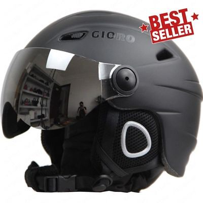 c049cbd3c08 Ski Snowboard Helmet With Visor Goggles Sled Sport Adult Safety Windproof  Winter