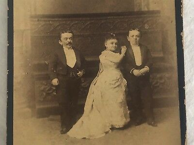 Charles Eisenmann Cabinet Card Magri Family Little People Vaudville 1885