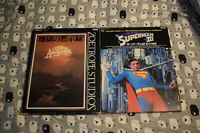 Lot of 2 VHD Movies - Superman III, Apocalypse Now - Japan Import - US Seller!