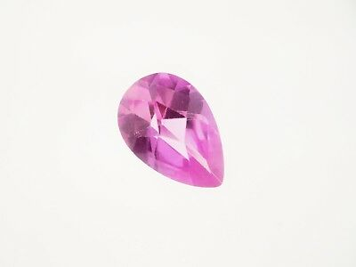 3.35ct Loose Faceted Pear Cut Lab Created Pink Sapphire Gemstone 12 x 8mm