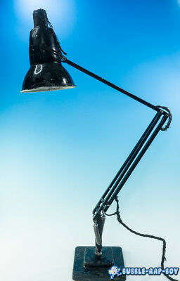 1227 Herbert Terry Black Anglepoise Lamp Square Two Step Base For Renovation