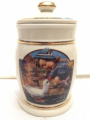 "Hummel Small Canister Danbury Mint Collection ""Barnyard Hero"" M J Hummel"