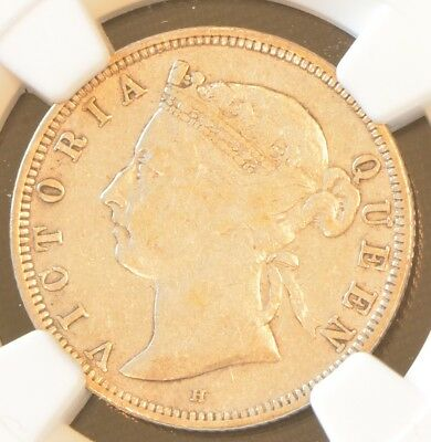 1890 Straits Settlements Victoria 20 Cent Silver Coin NGC VF 30