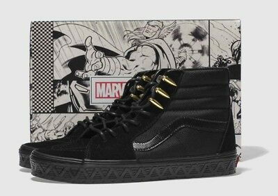 Vans X Marvel Black Panther Sk8 Hi Sneakers Skate Shoes Size Mens 7