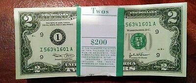 2003 $2 Federal Reserve ~ Minneapolis District ~ Original Pack 100 Notes Gem New