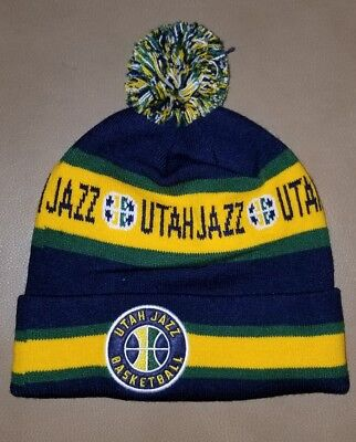 1915cb8502044 Utah Jazz NBA Winter Knit Hat Cap Basketball Beanie Toboggan Ski