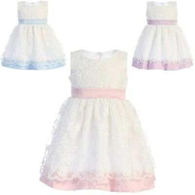 New Toddler Kids Flower Girls Cotton Print Dress Pageant Wedding Easter M708