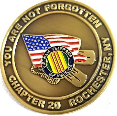 Awesome POW/MIA Vietnam Veterans Military Challenge Coin