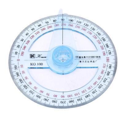 Round Protractor 360 Degree Circular Ruler Angle Full Circle Math W
