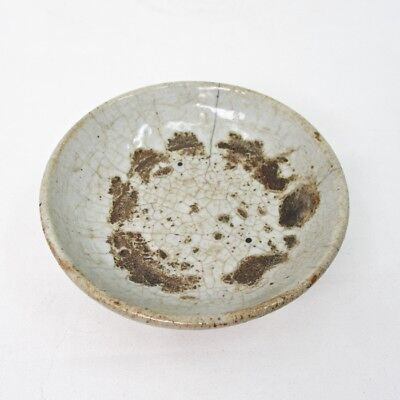 B540: Korean plate of really old white porcelain ware of Joseon dynasty age