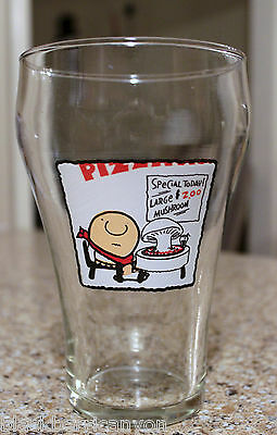 Vintage 1977 Large Heavy ZIGGY CLEAR GLASS  Mug Tom Wilson Pizza Special 2day