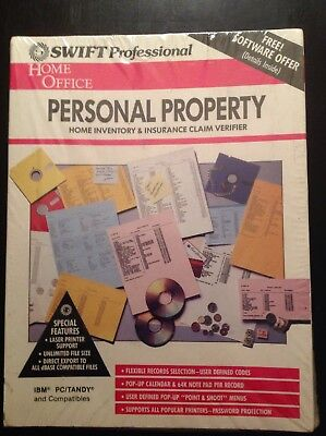 Vintage 1990 Swift Professional Home Office Personal Property Ibm Software New